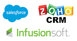 Customer Software Integrations: Salesforce, Zoho, Infusionsoft
